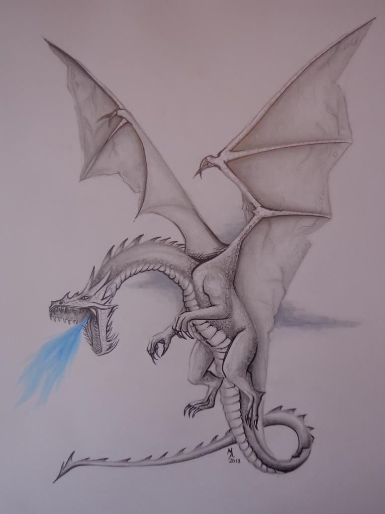Realistic Dragon Drawing by MasteringAnime