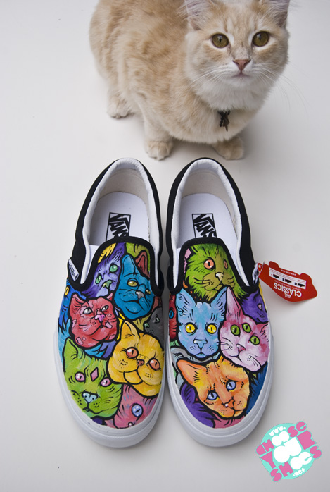 Vans Shoes With Cats On Them