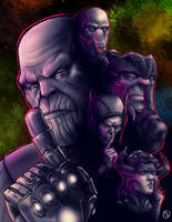 Thanos Demands Your Silence by Frarandez