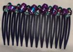 Comb - Purple-teal Swirls