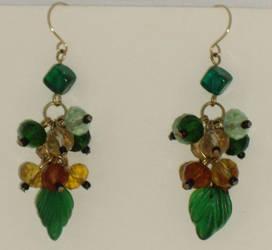 St Patrick's Day earrings