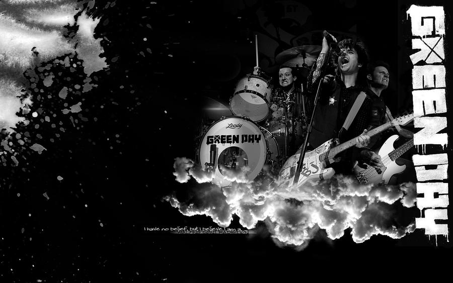 wallpaper green day. Green Day B and W Wallpaper by