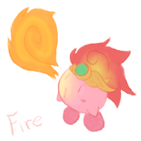 Fire Kirby by Aruesso