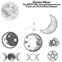 Moon and Pagan brushes by Kristinastar
