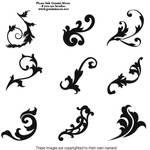 9 swirly brushes imagepack