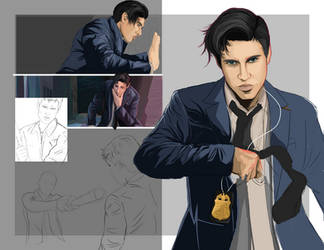 S - Page Spread WIP (3) by He6o