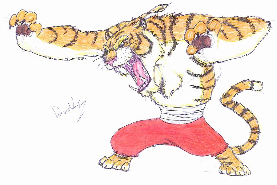 Kung fu tiger by DaVLoPBoS on DeviantArt