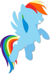 Simple Rainbow Dash vector