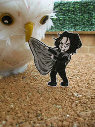 Severus Snape paperchild by Silwy-whisky