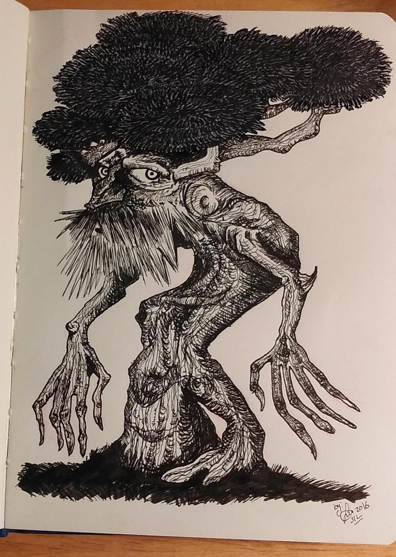 Inktober2016 Day 14: Tree by Silwy-whisky