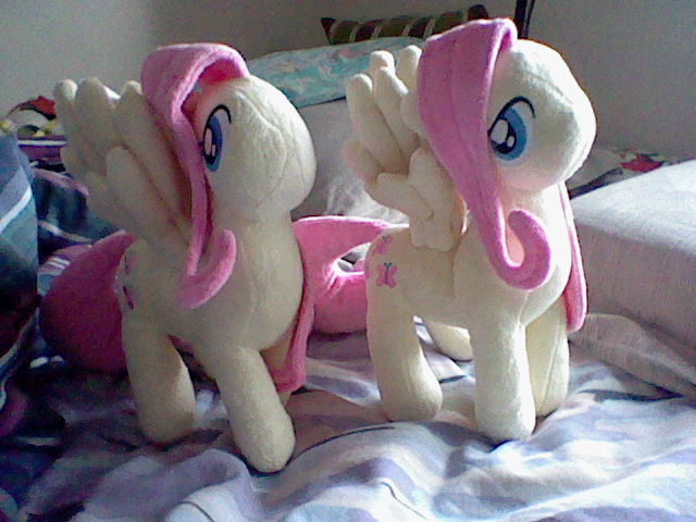 Two Fluttershy Plushes by Browntown747