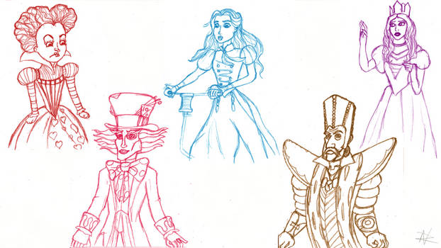Alice Through the Looking Glass sketchdump