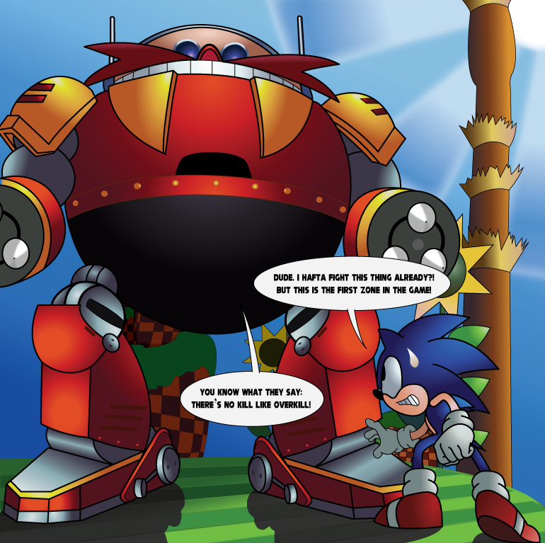 The Death Egg Robot In Green Hill Zone By The Julian Cabrera On Deviantart