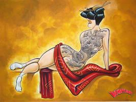Tattooed Geisha by TJ-Krushervision