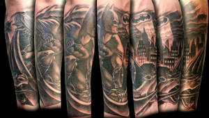 Batman half sleeve by TJ-Krushervision