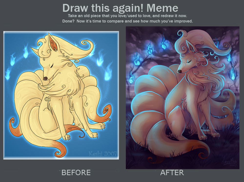 Draw this again Ninetales by KaceyMeg