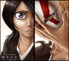 Rukia and Ichigo by KostanRyuk