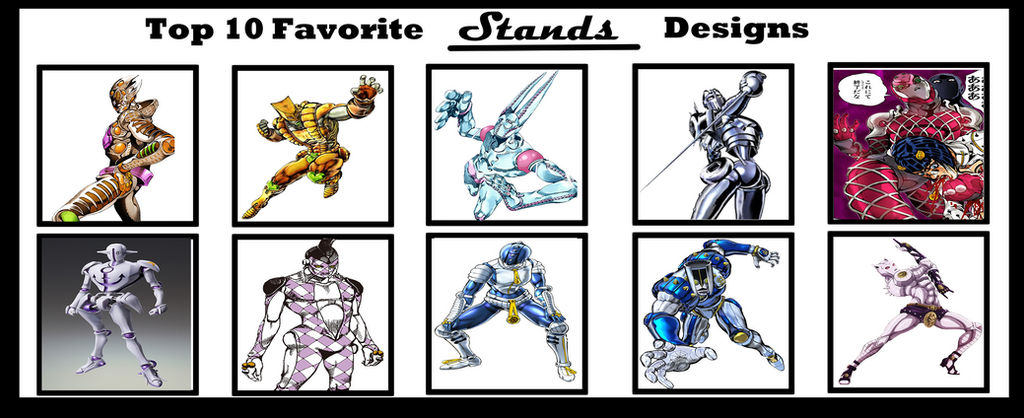 Top 10 Jojo Stands Designs by Oracledk on DeviantArt