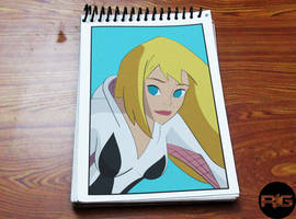 Lazy Drawing - Spider Gwen Portrait by RandomIndianGuru