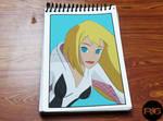 Lazy Drawing - Spider Gwen Portrait