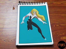 Lazy Drawing - Gwen Stacy (The Spider Woman) by RandomIndianGuru