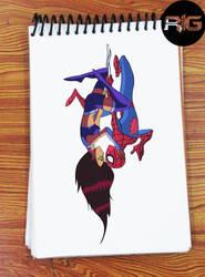 Just Drawing - Spider Man and Starfire by RandomIndianGuru