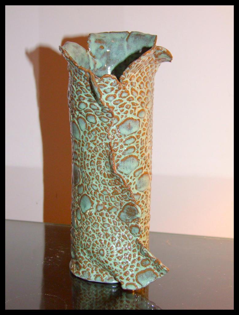 Slab building stefs clay portfolio an imprinted slab vase pottery by taintedxbliss reviewsmspy