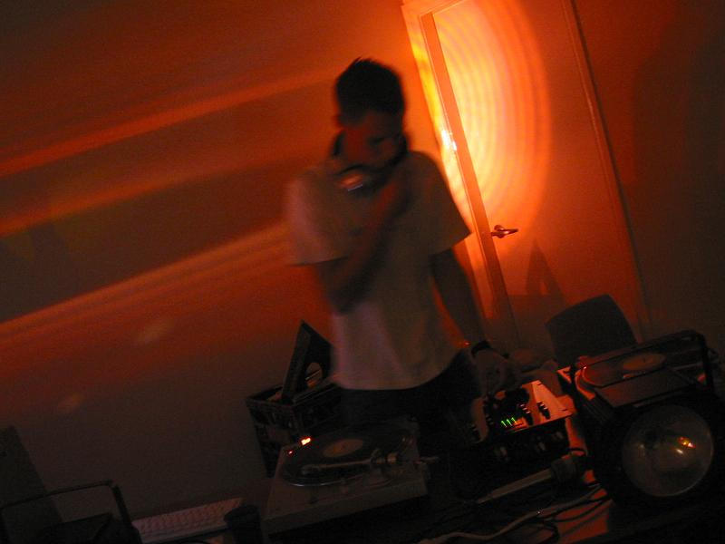 Me mixing at a party by DJ-iNFiNiTY