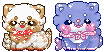 Squishy Sushi icon chibis - requests by cacticookies