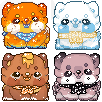 Sushi Dog Icon chibis -  Requests by cacticookies