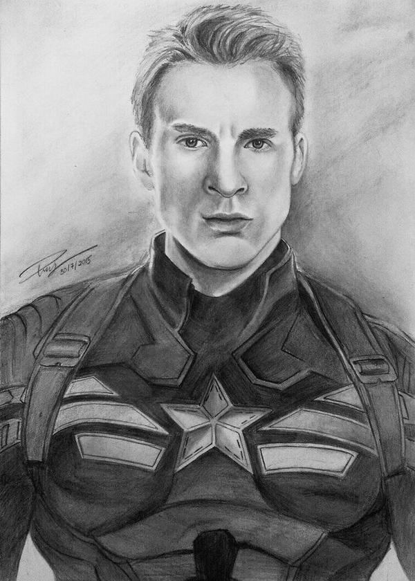 Sketch Of Captain America Chris Evans By Iicepink On DeviantArt