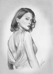 Sketch of Lea Seydoux, Spectre by iicepink