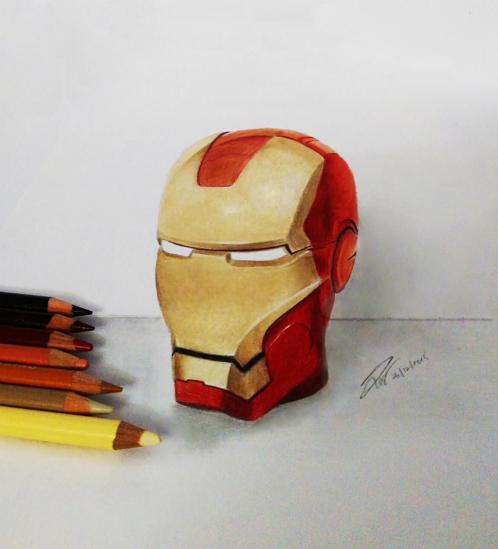 Sketch of 3D Iron Man Mug by iicepink on DeviantArt