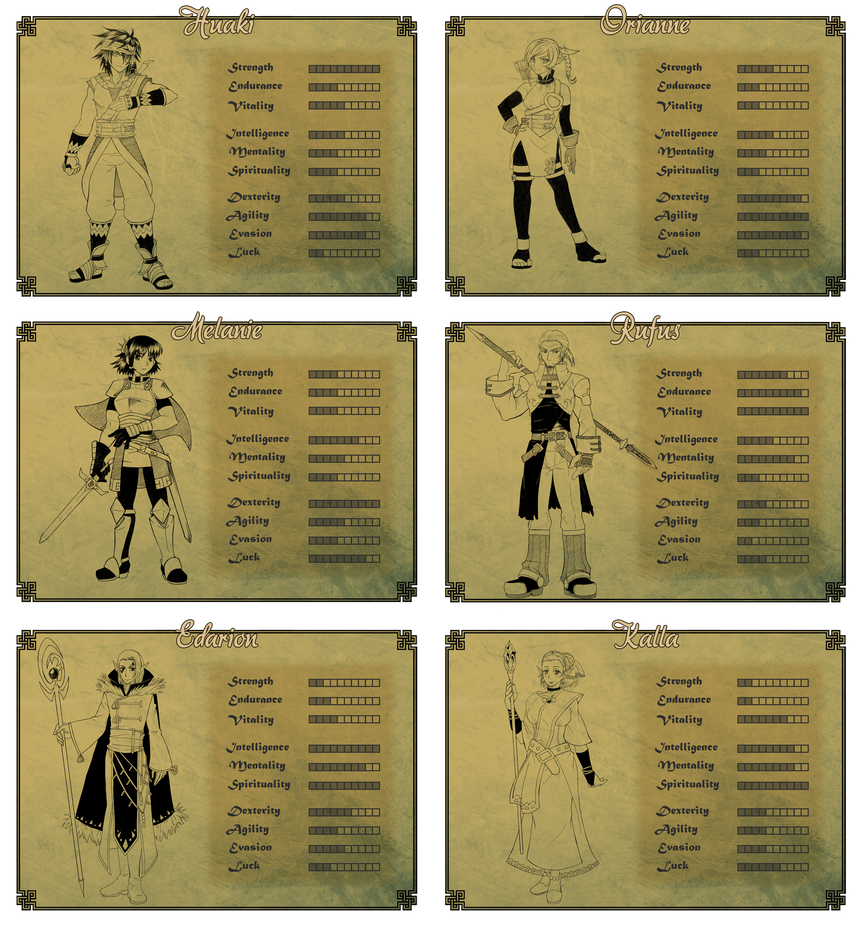The Medalion - full party character sheet by magier