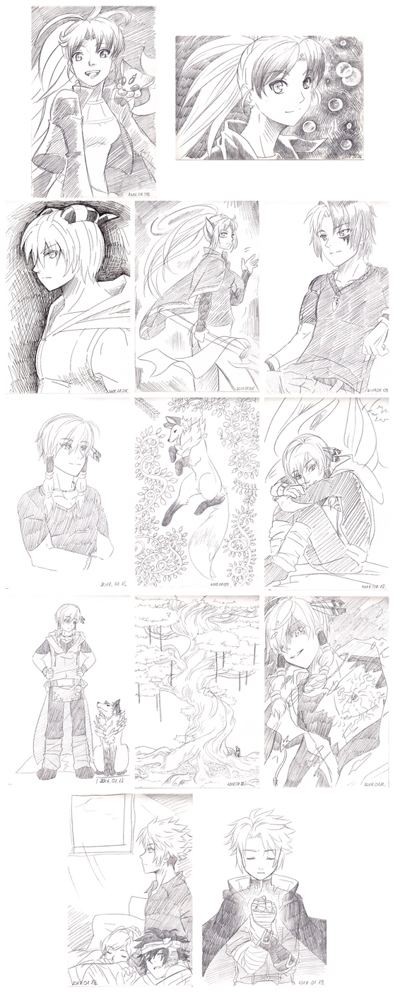 January sketch dump by magier