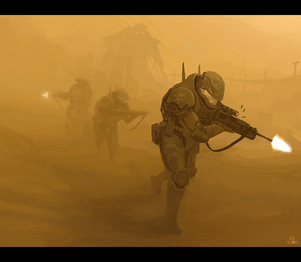 Sandstorm Patrol by wiredgear