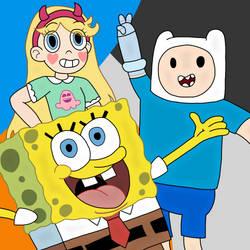 3 Cartoon Heroes by Mrthecooldude