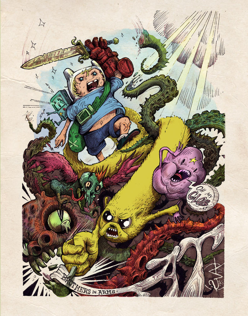 Adventure time: Brothers in Arms by LaloVarela