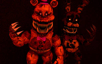 The Nightmares (FNAF 4) by FTThienAnTheFox