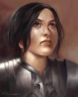 Female Warrior Portrait by rodmendez