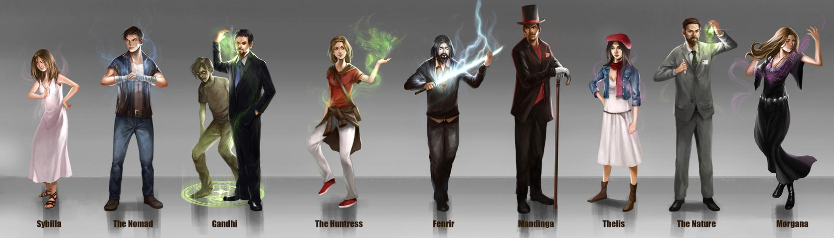 Mage Characters by rodmendez