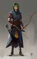 Elven Archer by rodmendez