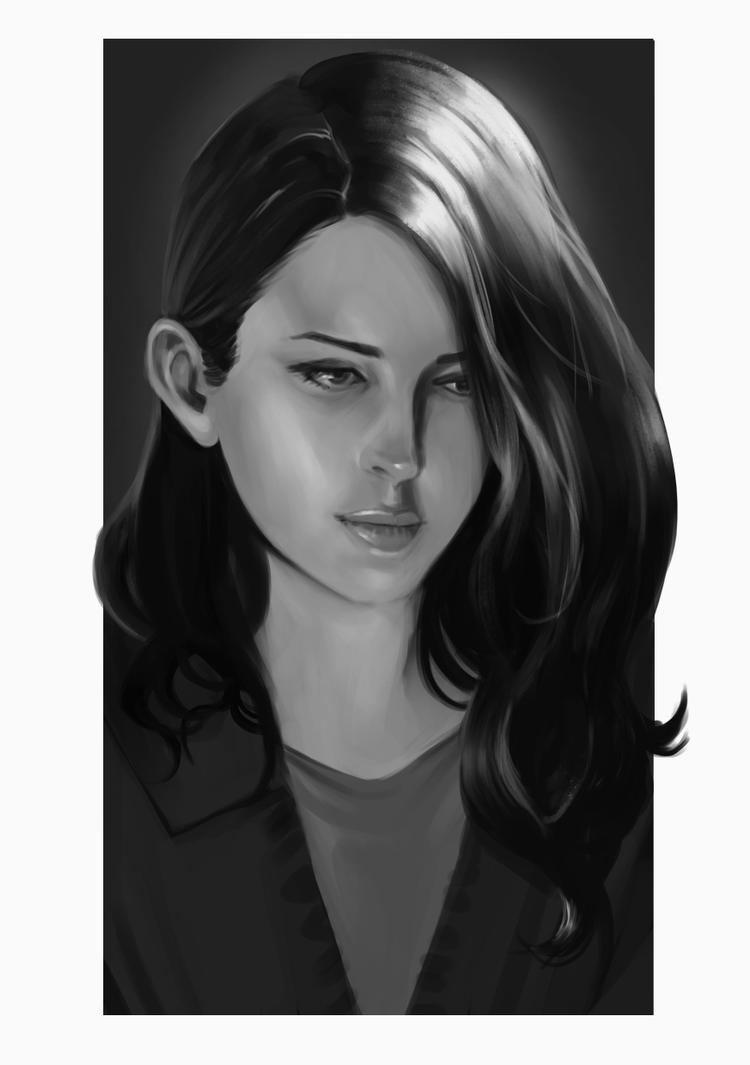 Girl Sketch by rodmendez