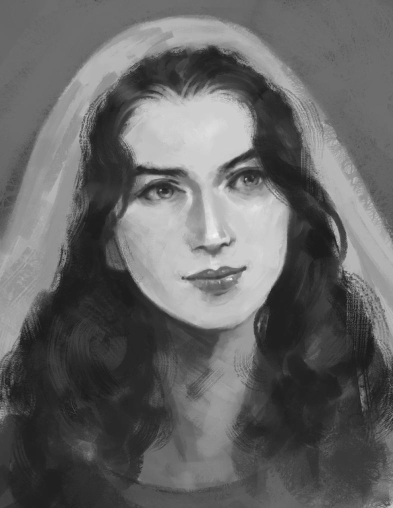 Portrait of Alia by rodmendez