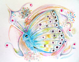 small blue butterfly  design