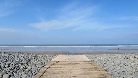 path to beach Northam, North Devon by GeaAusten