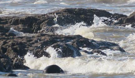 Glacial effect of water .Westward Ho !