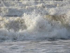 Crashing waves . Westward Ho! North Devon