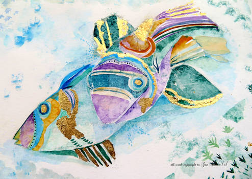 Triggerfish with Gold Leaf