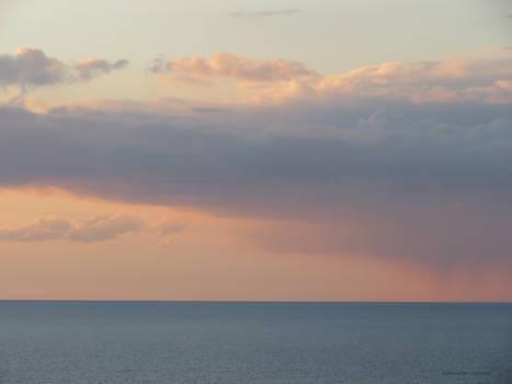 Distant Rain over the Atlantic